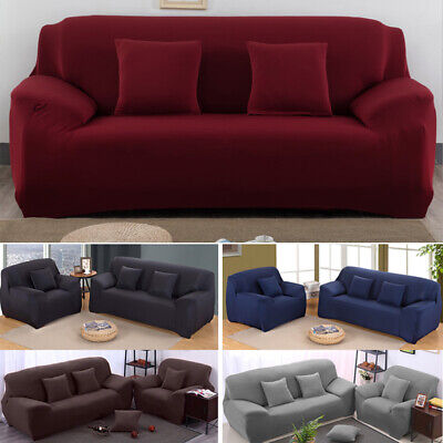 AU23.99 • Buy Stretch Fit Sofa Cover Lounge Couch Removable Slipcover Protector 1 2 3 4 Seater