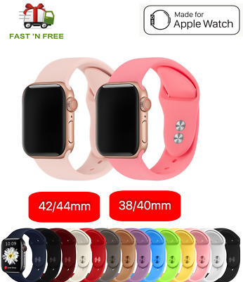 AU5.25 • Buy Apple Watch IWatch Series 1 2 3 4 5 Silicone Replacement Strap Band 38 40 42 44m