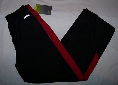 $11.24 • Buy NEW Boys Tek Gear Athletic Track Warm Up Pants Mesh Lined Size Medium 12 Red