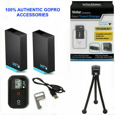 $ CDN72.43 • Buy 2X Battery For GoPro HERO7 BLACK AABAT-001 + CHARGER 110-220V + REMOTE +TRIPOD