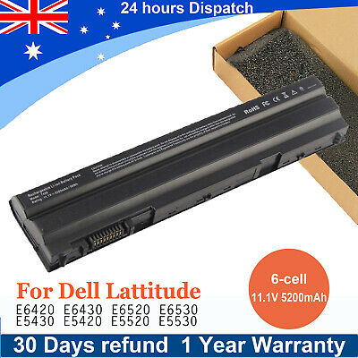 AU36.99 • Buy Battery For Dell Latitude E6420 E5420 E5520 E6520 T54FJ 4YRJH 8858X 5200mAh