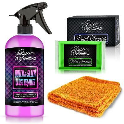 £11.45 • Buy Clay Bar Kit Car Lube Edgeless Microfibre Cloth Fine Detailing Pure Definition