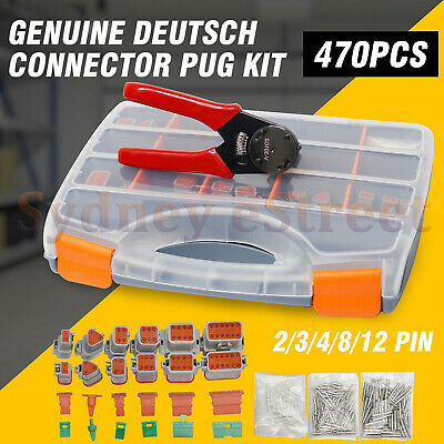AU164 • Buy Deutsch DT Connector Plug Kit 450pc With Crimp Tool Automotive #DT-KIT3-TR AU