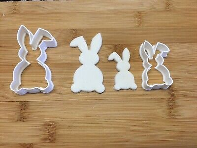 Rabbit Bunny Easter Shape Large And Small Cookie Cutter Biscuit Pastry Fondant • 4£