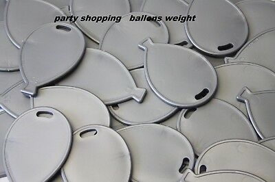 £3.99 • Buy Balloon Shaped Plastic Weights - Silver - Packs Of 5, 10, 20, Or 50 New Ballon