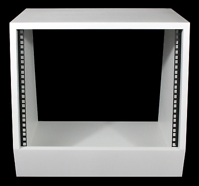 White 8u Angled 19  Inch Wooden Rack Unit/case/cabinet For Studio/DJ/recording • 87.50£