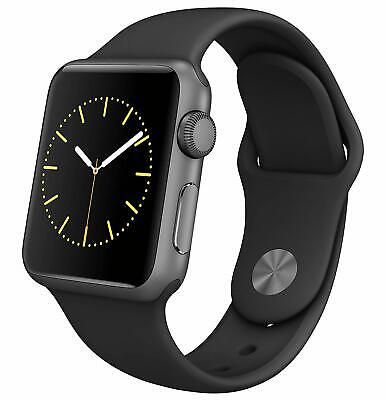 $ CDN239.54 • Buy Brand New Apple Watch Series 1 38mm Aluminum Case Black Sport Band - (MP022LL/A)