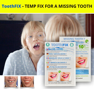 ToothFIX - Temporary Missing Tooth Filler Cosmetic False Teeth Denture • 5.99$