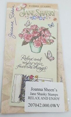 £4.89 • Buy Joanna Sheen's - Jane Shasky Unmounted Rubber Stamps - RELAX AND ENJOY