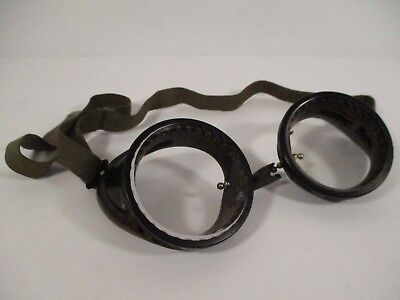 $28.80 • Buy Antique Bakelite Safety Glasses Goggles Metal Mesh Sides Motorcycle Steampunk