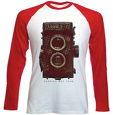 Yashica Mat 124g - New Red Long Sleeves Cotton Tshirt • 15.99£