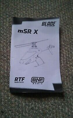 £5.80 • Buy 043 Blade MSR X RTF Helicopter Instructions Manual