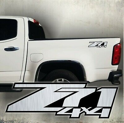 $24.99 • Buy Z71 4x4 Decals Stickers Silverado Chevrolet, Brushed Chrome (set)