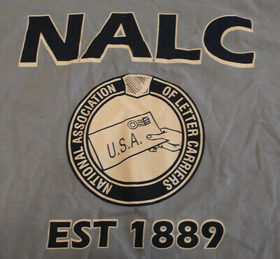 $24.99 • Buy New NALC NATIONAL ASSN. OF LETTER CARRIERS LARGE BLUE T-SHIRT MADE IN USA