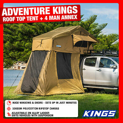 AU798.01 • Buy New 4WD Roof Top Tent With 4 Man Annex  Offroad  Camper Car Trailer SUV  UTE
