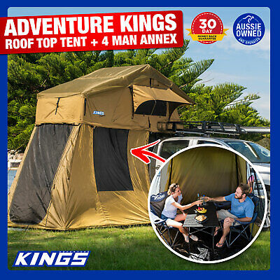 AU798.03 • Buy Kings Roof Top Tent With 4 Man Annex Rack Camping Car Camper Annex