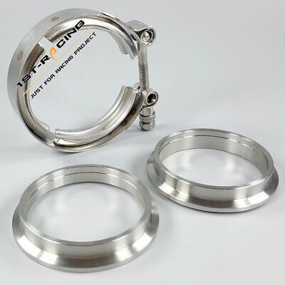 AU28.19 • Buy Stainless Steel 2.5  64mm Turbo Exhaust V-Band Clamp + Male & Female Flanges Kit