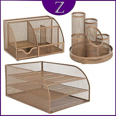 £39.95 • Buy Mesh Office Set With 3 Desktop Essentials In Rose Gold Colour