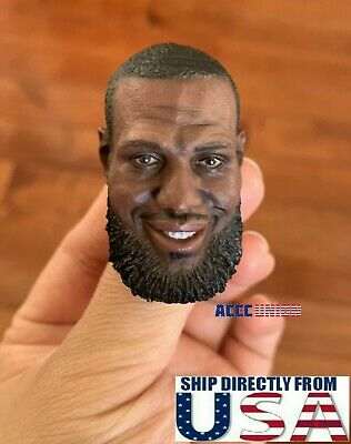 $38.50 • Buy 1/6 LeBron James Head Sculpt NBA For 12  Enterbay Hot Toys PHICEN TBL Figure USA