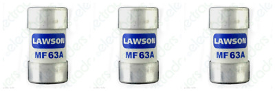 3 X Lawson MF63A Cut Out Fuses - 63 Amp BS88 • 14.45£