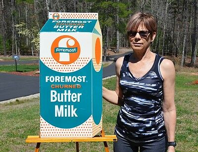$1295 • Buy VINTAGE 50's FOREMOST BUTTER MILK DICUT DAIRY SIGN UNFINDABLE SUPER COLLECTABLE