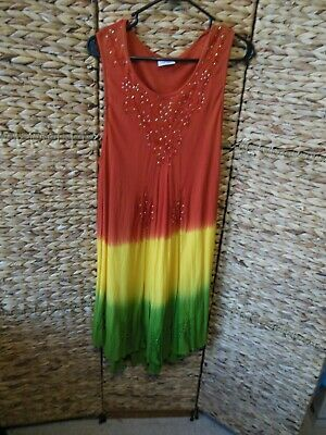 f07db8fa1679d Womens Rainbow Dress Sz-one Size • 7.99