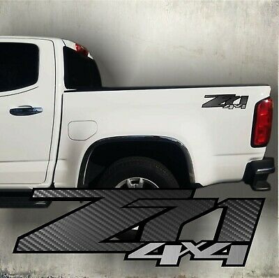 $25.99 • Buy Z71 4x4 Decal Sticker Carbon Fiber And Brushed Chrome, Silverado Truck (set)