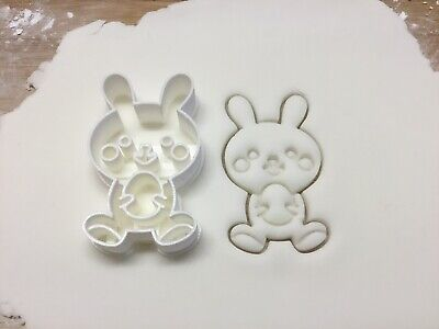 Rabbit Bunny Easter Holding Egg Shape Cookie Cutter Biscuit Pastry Fondant • 4.99£