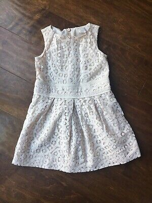 218fba26d3d J Crew Crewcuts Girl Cream Dress Size 2 Lace Lined EUC Easter Wedding •  19.99