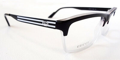 d1029d0c7a0 GUCCI Men s Frame Glasses GG3517 Crystal Black 53-14-140 MADE IN ITALY -