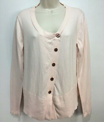 69d660de55f0 Ted Baker London Cardigan Sweater Womens Size 3 Pink Organic Cotton Floral  Back • 44.99