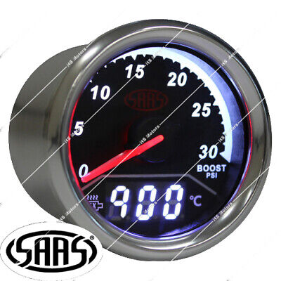 AU129.90 • Buy Saas 2 In 1 Turbo Diesel Boost & Exhaust Temp Gauge 52mm Egt Pyro & Fitting Kit