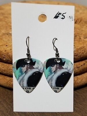 $5 • Buy Anime One Piece X-drake Guitar Pick Dangle Earrings            X9