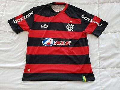 593ab25a5 Men s Large Flamengo Striped Olympikus Football Soccer Jersey Bozzano •  24.88