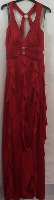 £16.99 • Buy PEARCE FIONDA WOMENS RED STRAPLESS Party DRESS SIZE 12