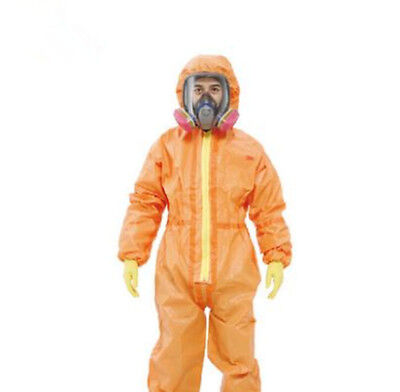 CE Protective Coverall Chemical Liquid Nuclear Radiation Protection Suit • 89.99$