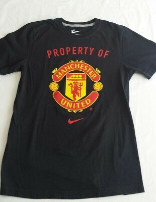 91afedd71 Nike Manchester United T-Shirt Mens Size Small Standard Fit Black S • 14.95