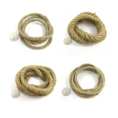 3.5mm - 30mm NATURAL HIGH QUALITY JUTE ROPE *10 WIDTHS* STRONG BRAID 1m 5m 10m • 2.89£