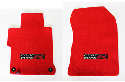 $116.90 • Buy New! RED Floor Mats 2001 - 2020 Honda Civic W/ Embroidered Logo 2pc Set - Fronts