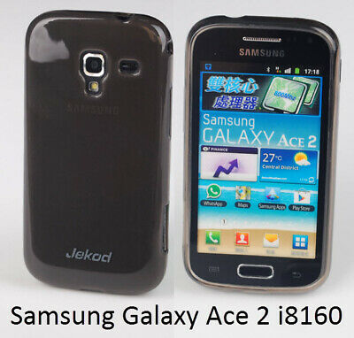 £4.99 • Buy Jekod Black TPU Gel Silicon Case Cover+screen Protector For Samsung Galaxy Ace 2