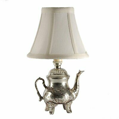 Small Silver Teapot Accent Table Lamp • 26.19£