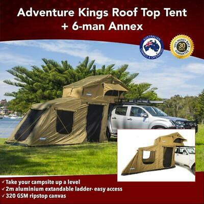 AU898 • Buy Premium Roof Top Tent With 6 Man Annex 4WD Offroad Camper Trailer 4x4 Car Rack