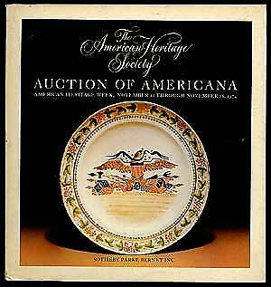 $25 • Buy American Heritage Society Auction Of Americana / First Edition 1974