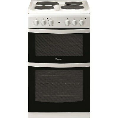 £269.96 • Buy Indesit ID5E92KMW 50cm Double Cavity Electric Cooker With Sealed Plate Hob - Whi