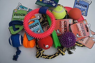11 X GENUINE ARMITAGE GOOD BOY DOG TOYS ASSORTED ROPE RUBBER VINYL BOUNCY SQUEAK • 15.95£