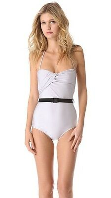 $149.99 • Buy NWT RETRO ZIMMERMANN SILVER VAPOR DRAPED MAILLOT ONE-PIECE SWIMSUIT S1 SOLD OUT