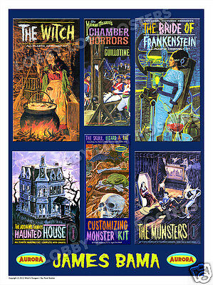 $ CDN33.03 • Buy James Bama Aurora Model Box Art Print # 3 Addams Family Munsters The Witch