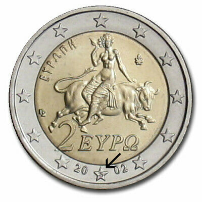 $ CDN6591 • Buy Coin 2 Euro Greek With S Inside Star.. Very Rare