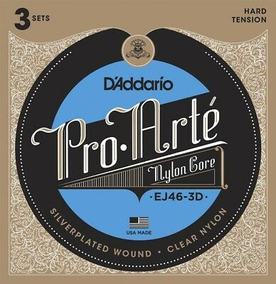 $ CDN33.82 • Buy 3 Pack D'Addario EJ46-3D Pro-Arte Classical Nylon Guitar Strings Hard Tension