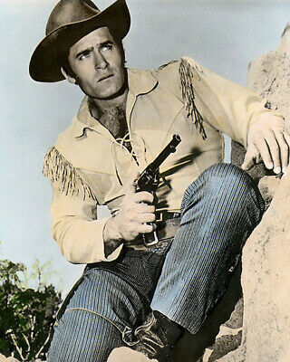 $14.50 • Buy CLINT WALKER CHYENNE BODIE HOLLYWOOD ACTOR 8x10  HAND COLOR TINTED PHOTOGRAPH